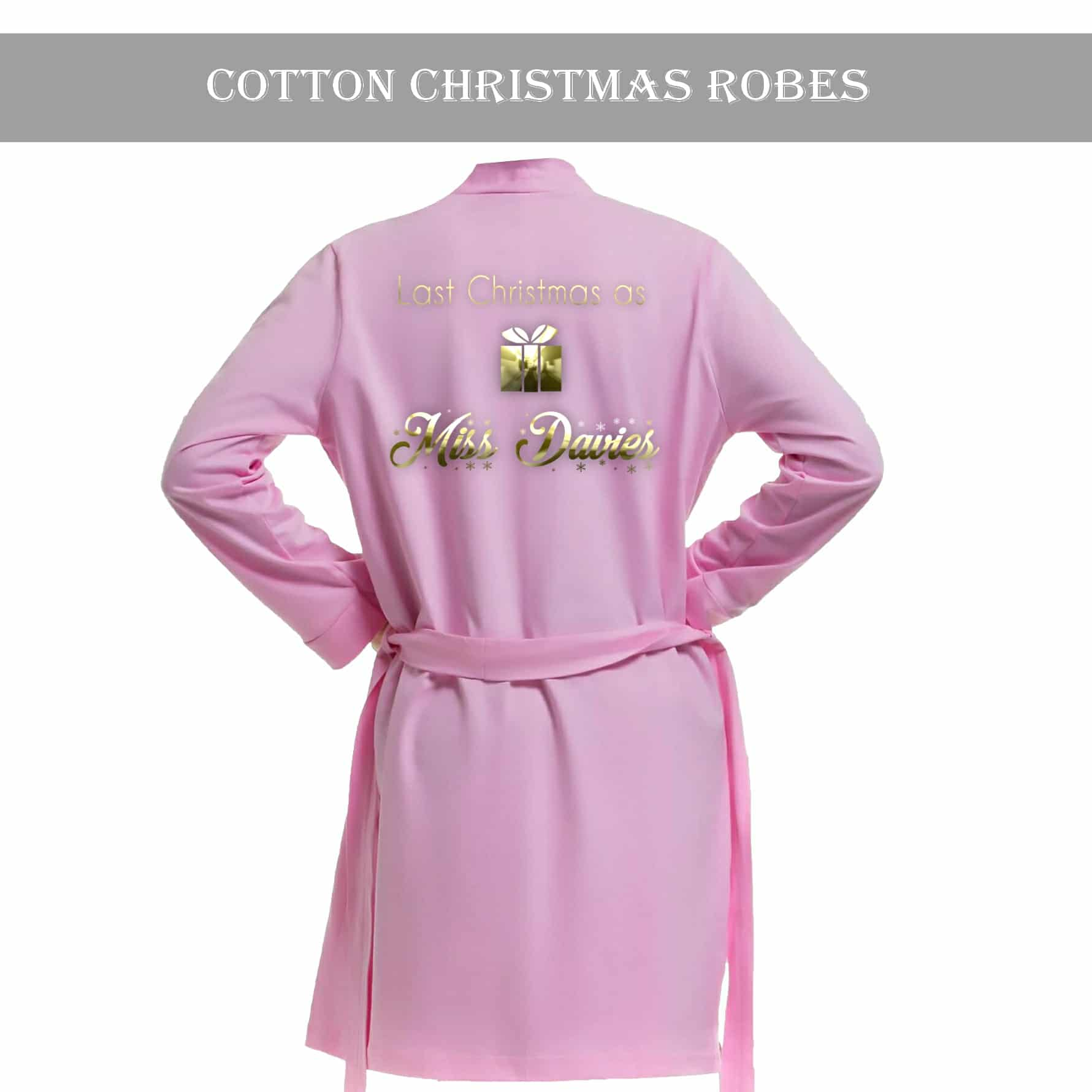 Christmas dressing gown