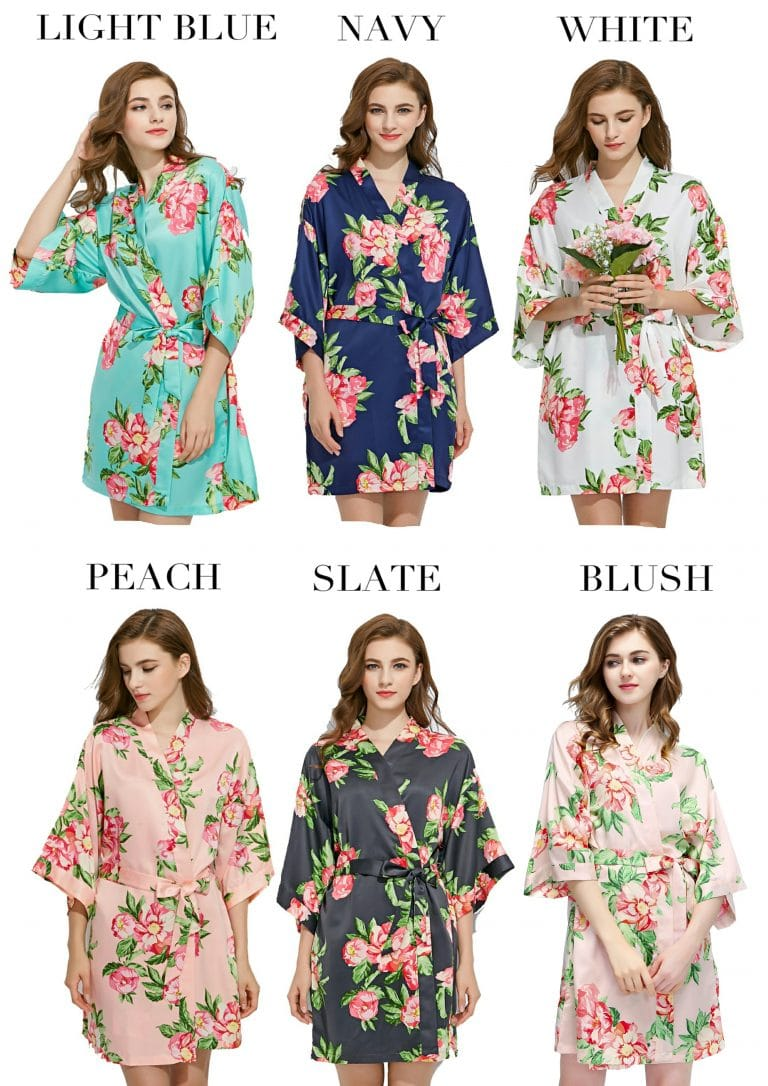 Coloured Floral robes