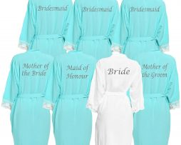 Aqua Lace Dressing Gown