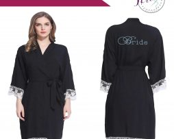 Black Lace Dressing Gown