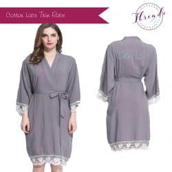 Grey Lace Dressing Gown