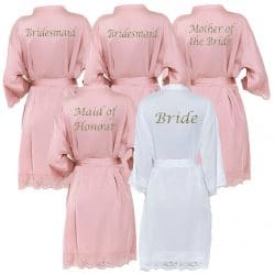 Dusky Rose Lace Robes