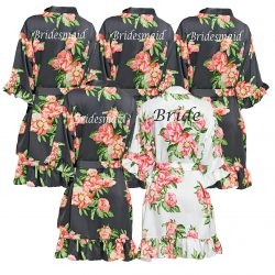 Pretty Floral Ruffled Robes
