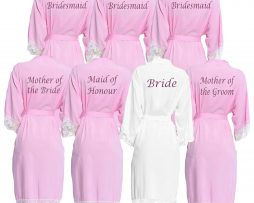 Pink Lace Dressing Gown