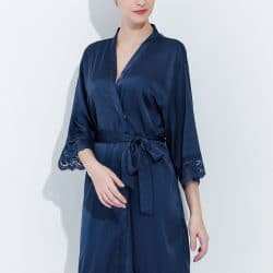Navy Lace Robes