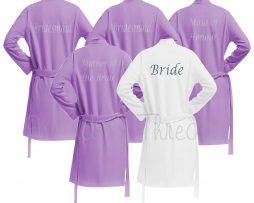 Lilac Wedding Robes