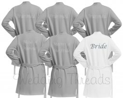 Grey Wedding Robes