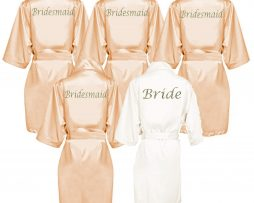 Gold Satin Robe
