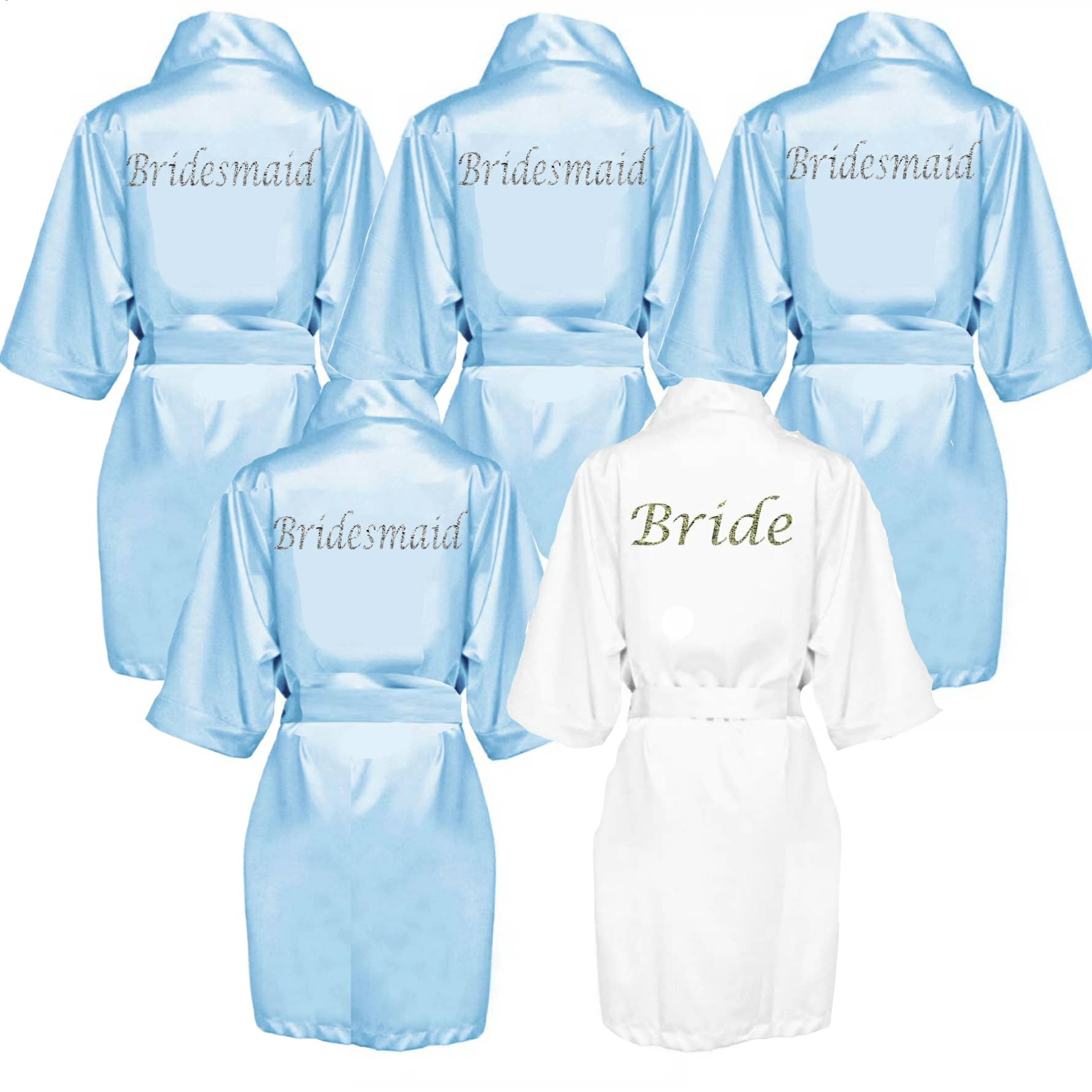 cheaper sale special sales online shop Blue Satin Robe Personalised