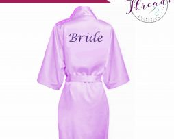 Lilac Satin Robes