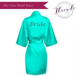 Mint Green Satin Robes