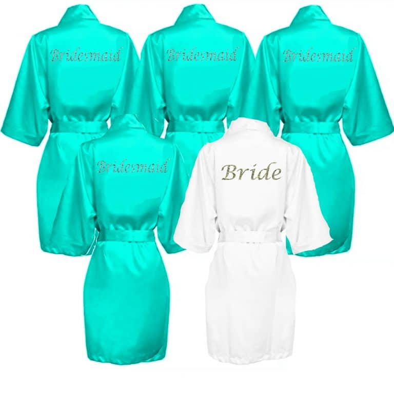 Mint Green Satin Robe