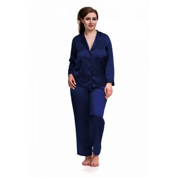 NAVY Satin Bridal Pyjamas
