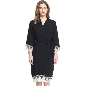 Autumn - Bridal Robe Black