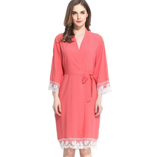 Autumn - Bridal Robe Coral