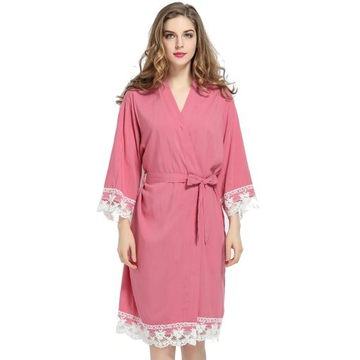 Autumn - Bridal Robe Dusky Pink