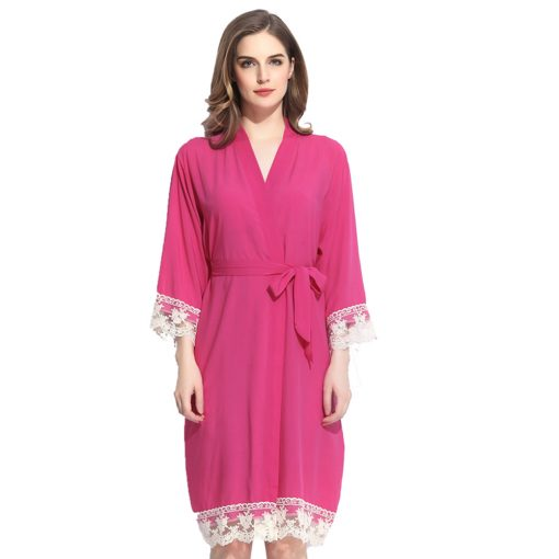 Autumn - Bridal Robe Fuschia Pink