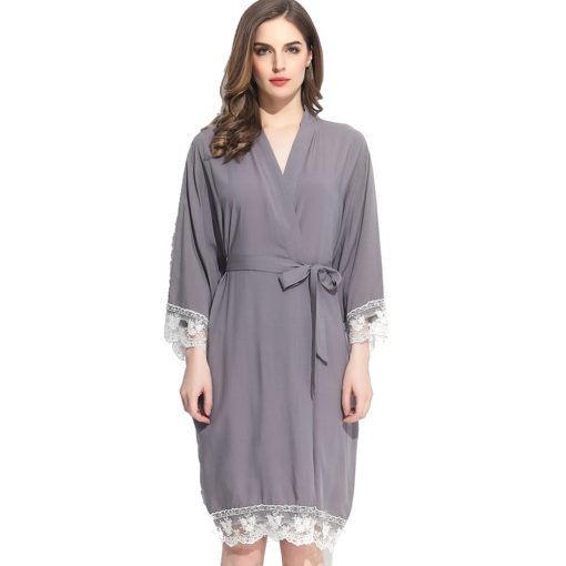 Autumn - Bridal Robe Grey