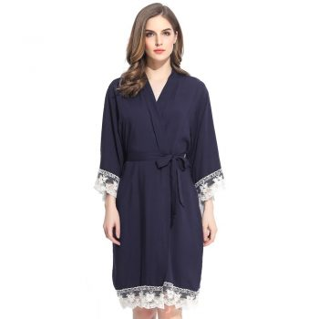 Autumn - Bridal Robe Navy