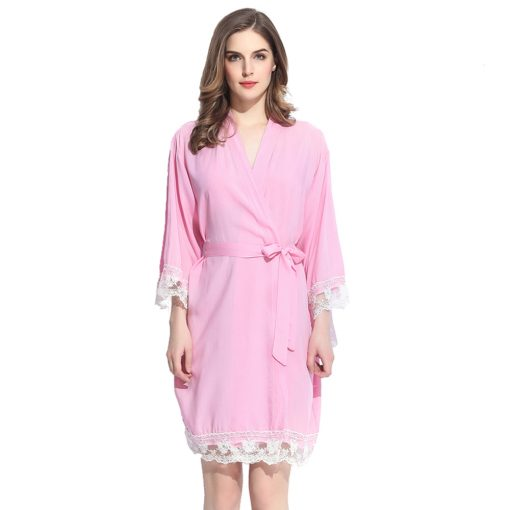 Autumn - Bridal Robe Light Pink