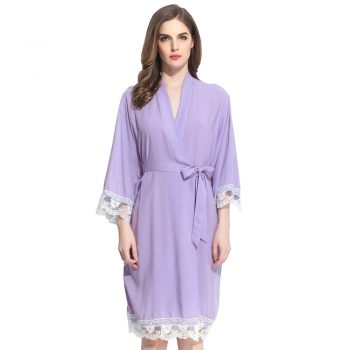Autumn - Bridal Robe Lilac