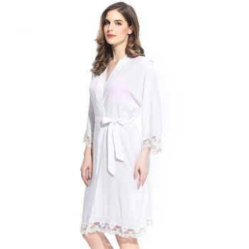 Autumn - Bridal Robe White