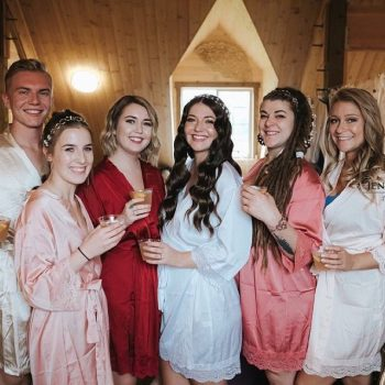 Mia - Satin Bridesmaid Robe - Bridal Party Wearing