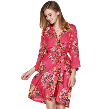Amelia - Bride Dressing Gown Coral
