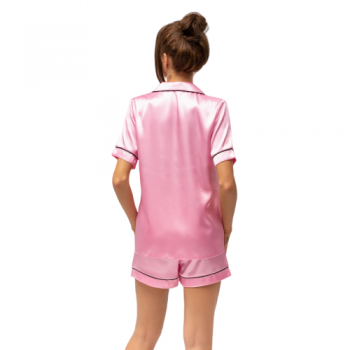 Pink Satin Bride Pyjamas