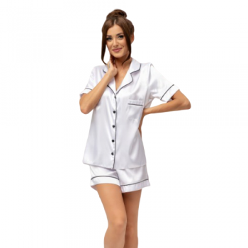 White Satin Bride Pyjamas