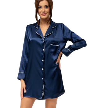 Elise - Navy nightshirt