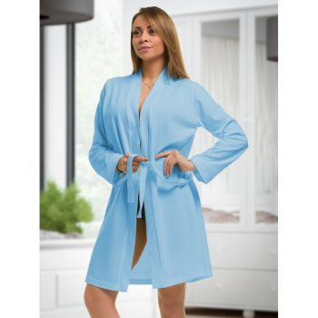 Isabella - Light Blue cotton robe