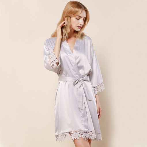 Layla - Wedding Robe Personalised - Light Grey