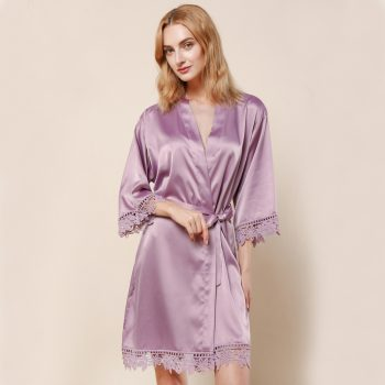 Layla - Wedding Robe Personalised - Mauve