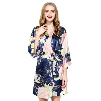 Eve - Bridesmaid Robes UK Navy