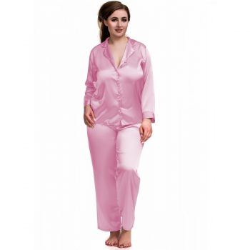 Pink Satin Wedding Morning Pyjamas