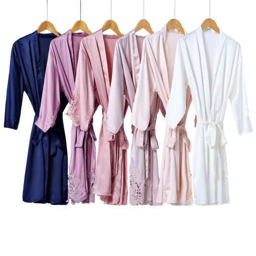 GRACE - SATIN BRIDAL ROBE SET WEDDING THREADS