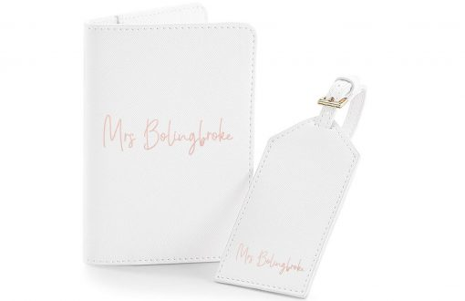 Bride Passport Cover and Tag - Wedding Threads