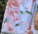 Luna - Bridal Robes Print Detail