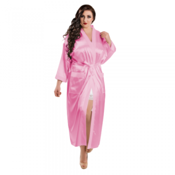 Pink Long Satin Bridal Robes