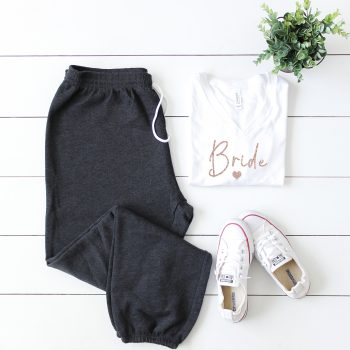 bride - heart tracksuit - wedding threads